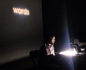 File photo of Joseph del Pesco presenting Michael Snow's SoIs This at SOMA Mexico City in 2016